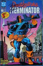 DEATHSTROKE THE TERMINATOR 1 + 2~SIGNED MARV WOLFMAN~DC COMICS~1991~GOLD PRINT
