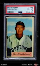 1954 Bowman #66 Ted Williams TED Red Sox PSA 6 - EX/MT