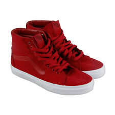 Vans Sk8 Hi Mens Red Canvas High Top Lace Up Sneakers Shoes