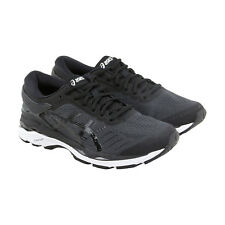 Asics Gel Kayano 24 Mens Black Mesh Athletic Lace Up Running Shoes