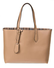 Burberry Bag % CALF LEATHER TOTE DOUBLE FACE MADE IN ITALY Woman Beige 4049584-