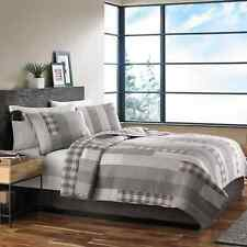 Eddie Bauer Fairview Cotton Reversible 3-piece Quilt Set Grey