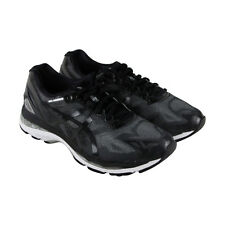 Asics Gel Nimbus 19 Mens Gray Mesh Athletic Lace Up Running Shoes