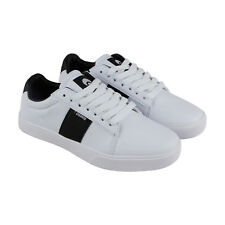 Osiris Rebound Vlc Mens White Leather Lace Up Lace Up Sneakers Shoes