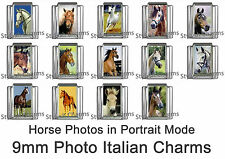 HORSES HORSE LOVERS 1x 9mm PHOTO ITALIAN CHARM - Portrait Mode Range of Charms