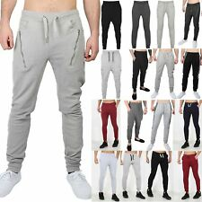 Mens Essentials Side Back Zips Gym Exercise Work Out Trousers Bottoms Pants