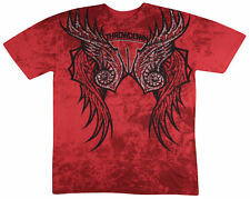 NWT THROWDOWN AFFLICTION MENS Fitted TEE RED T-shirt MMA UFC CELT *LARGE