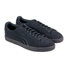 Puma Classic Badge Mens Gray Suede Lace Up Sneakers Shoes