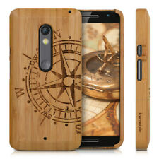 kwmobile WOOD COVER FOR MOTOROLA MOTO X PLAY BAMBOO CASE BACK HARD NATURAL