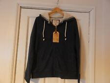 BNWT FAT FACE NAVY FLEECE LINED HOODIE SIZE UK 14 RRP £55