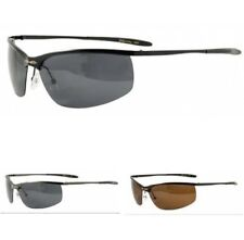 XLOOP New Mens Womens Wrap Polarized Semi Rimless Gun metal UV400 Sunglasses 57