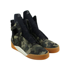 Radii Prism Mens Green Textile High Top Lace Up Sneakers Shoes