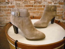 Franco Sarto Taupe Suede Idrina Buckle Detail Ankle Boot NEW