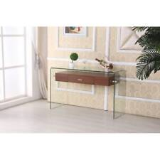 Best Quality Furniture Modern Glass-top Console Table with Drawer