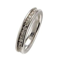 316L Stainless Steel Eternity Ring Wedding Band 4mm CZ