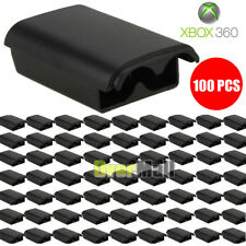 100 PCS Battery Pack Cover Shell Case Kit for Xbox 360 Wireless Controller Black