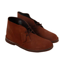 Bostonian Desert Boot Mens Brown Suede Casual Dress Lace Up Chukkas Shoes