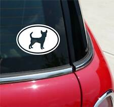 RAT TERRIER RATS TERRIERS DOG GRAPHIC DECAL STICKER ART CAR WALL EURO OVAL