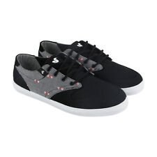 DVS Whitmore Mens Black Canvas Lace Up Skate Shoes