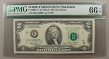 2009 Fr. 1939-K* $2 Federal Reserve Star Note PMG Gem Uncirculated 66 EPQ