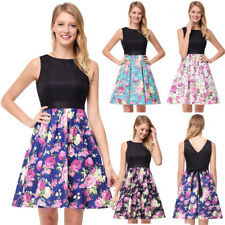50s Rockabilly Vintage Pinup Party Cocktail Prom Bridesmaid Womens Mini Dress