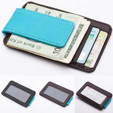 Mens Leather Money Clip Slim Front Pocket Wallet Magnetic ID Credit Card HolderS