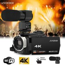 Andoer 4K WiFi Ultra HD 1080P 48MP 16X ZOOM Digital Video Camera Camcorder DV