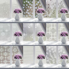 Privacy Window Film Frosted Glass Stickers for Home Bathroom Living Room VARIOUS