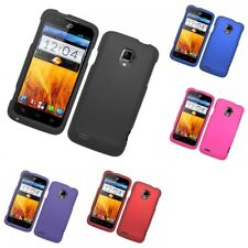 For ZTE Rapido Z932C Hard Snap-On Rubberized Phone Skin Case Cover