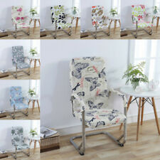 Floral Chair Covers For Office Rotating Chair Swivel Chair + Armrest Cover