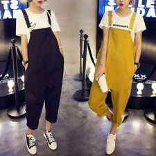 Womens Harem Suspender Romper Jumpsuit Overall Long Trousers Pants Strap Jumpers