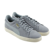 Puma Classic Perforation Mens Gray Suede Lace Up Sneakers Shoes