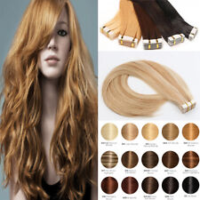 Tape In 100% Human Hair Extension Real Remy Skin Weft 100g 40 pcs Brazilian I945