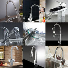 Bathroom Kitchen Sink Lever Mixer Tap Pull Out Swivel Spray Spout Faucet