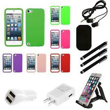 For Apple iPod Touch 5th 6th Gen Silicone Skin Rubber Soft Case Phone Combo