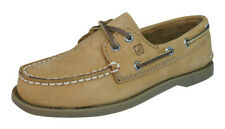 Sperry A/O Sahara Leather Junior Boys Deck / Boat Shoes - Brown
