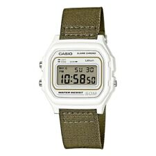 Casio Collection W-59B-2AVEF Mens Watch with Fabric Strap - Green