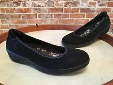 Skechers Black Kiss Lounge Around Skimmer Slip-Ons Wedges NEW