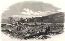 The flood at Sheffield: The village of Malin Bridge after the flood, print, 1864
