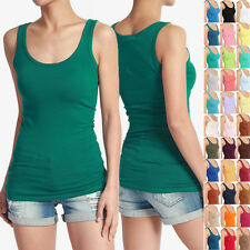 MOGAN Plain Scoop Neck Soft TANK TOP Basic Casual Layering Sleeveless Tee Shirts