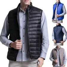 Mens Duck Down Vest padded Ultralight Stand collar Puffer Jacket Casual Coat Hot