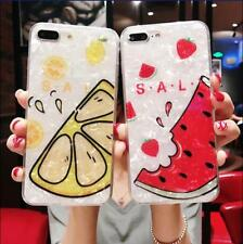 New Watermelon Lemon Shell Cover Full Soft Phone Case For iphone 6 6s 7 8 Plus X