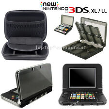 For Nintendo 3DS XL LL Travel All Carrying Bag Clear Cover Case Game Card Box