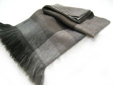 Alpaca and Wool Throw Blanket - Our Woven Block Throw, No Synthetics