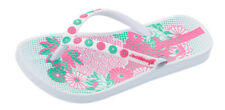 Girls Ipanema Flip Flops Anatomica Lovely Kids Beach Sandals - White - See Sizes