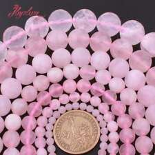 """Round Ball Rose Quartz Natural Crystal Stone Loose Beads for Jewelry Making 15"""""""