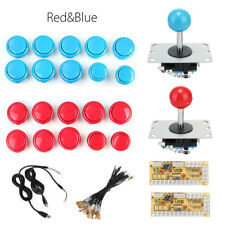 Arcade Game DIY Kit 20 Push Bouton+2 Joysticks +2 USB Encodeur Board Complet