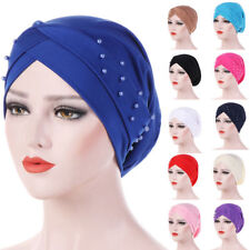 Muslim Women Hijab Beads Elastic Turban Hat Cancer Chemo Cap Head Wrap Clever