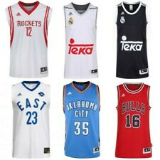 adidas BASKETBALL JERSEYS REPLICA SWINGMAN NBA BULLS THUNDER REAL MADRID ROCKETS