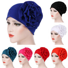 Women Hat Muslim Flower Ruffle Cancer Chemo Hat Beanie Lady Turban Head Wrap Cap
